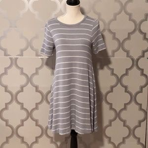 LOU & GREY SHIRT DRESS | SS | GRAY |EUC | SIZE XS